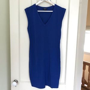 Kenneth Cole Blue V Neck Shift Dress